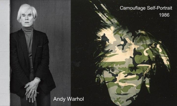 اللوحة الذاتية لأندي ورول كموفلاج 1986