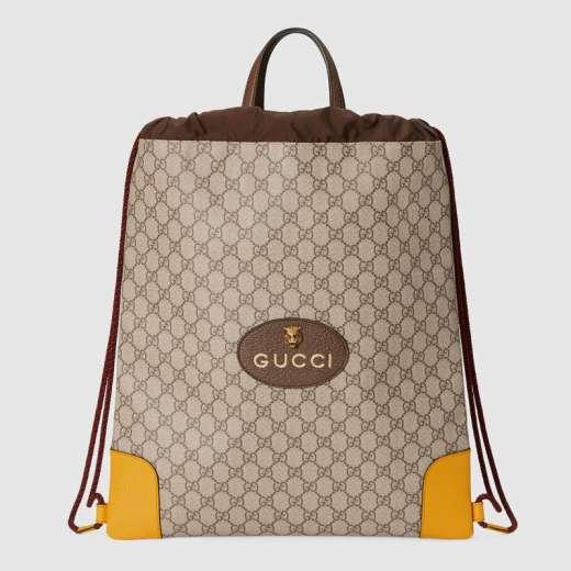Zaino-con-coulisse-in-tessuto-GG-Supreme Gucci 590 EUR