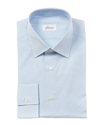 قميص سماوي بياقة معتدلة من Brioni