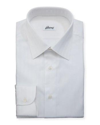 قميص أبيض بياقة معتدلة من Brioni