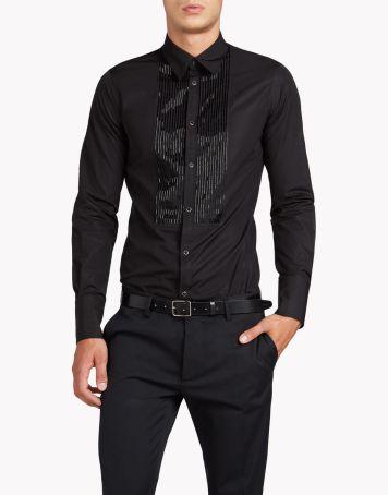 slim shirt - nz my image قميص مناسبات أسود