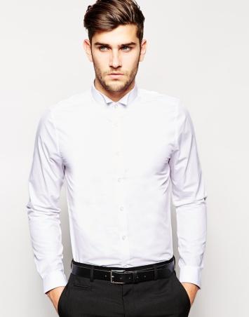 slim shirt - nz my image قميص مناسبات أبيض