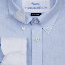 قميص كاجوال بياقة أمريكية buttons down- nz my image