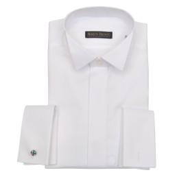 قميص بأزرار مخفية ملائم لربطة البابيون - Shirt Wing Collar