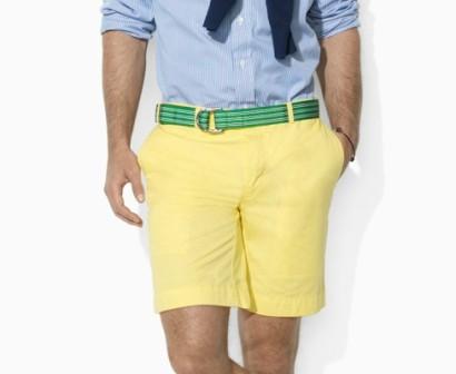 Bermuda pantaloni corti giallo uomo Ralph Lauren collezione 2013