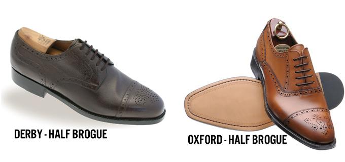 Oxford &Derby half brogue